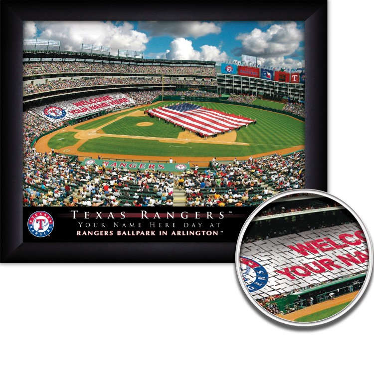 Personalized Texas Rangers Stadium Pring