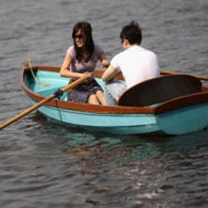 couple in row boat